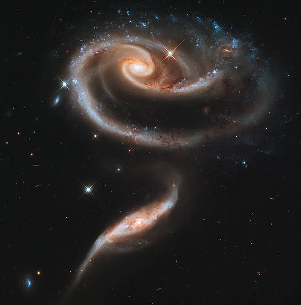 Arp 273 interacting galaxies