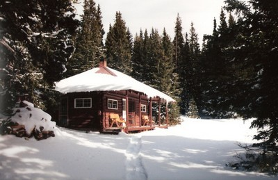 cabin at Little Brooklyn Lake, Wyoming