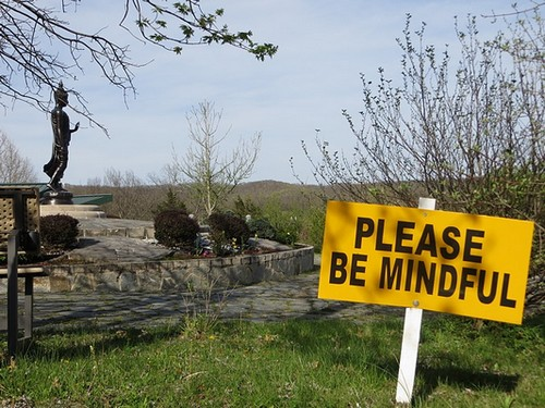 Please Be Mindful sign