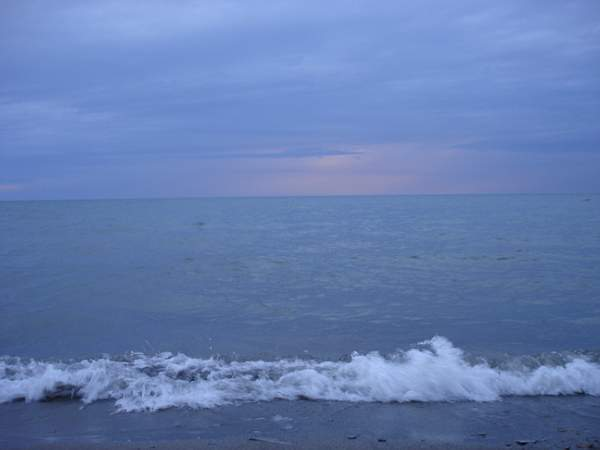 Lake Erie across from the Listening Point retreat outside Erie, PA; photo by Heather Saunders
