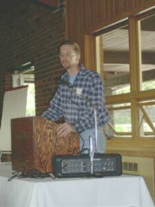 Shawn Nevins presenting at the April 2003 conference