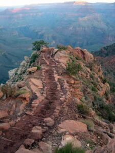 Photo by the author: Grand Canyon South Kaibab Trail.