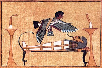 Egyptian mummy and astral body