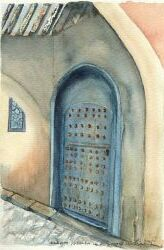 Door in the old section of Meknes, by Christiane Goig