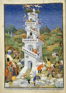 Tower of Babel from Bedford Hours