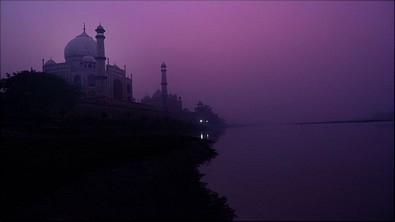Taj Mahal on dark night