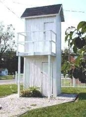 double-decker outhouse