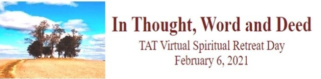 TAT February 6, 2021 Spiritual Retreat Banner