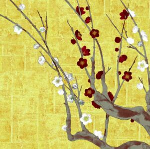 flowering plum branch